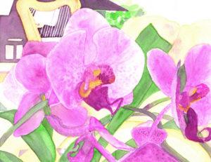 01 Orchids Harp & Piano